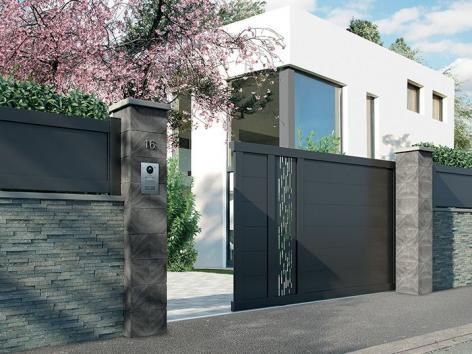 Portail aluminium Graphic packshot 3D